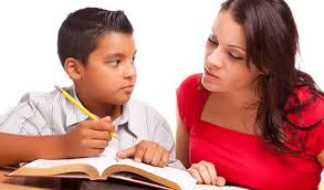 teacher helping