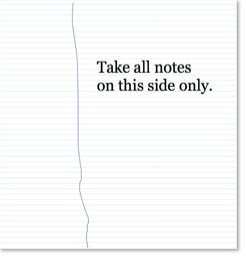 Note taking instruction